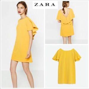 Zara Basic • Bright Yellow Mini Dress